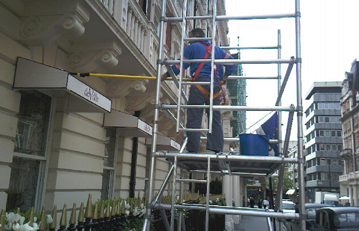London Hotel Facade Cleaning
